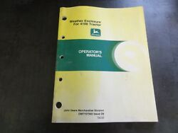 John Deere 4100 Weather Enclosure For 4100 Tractor Operator's Manual  Omty25702