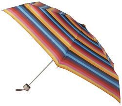 Totes Micro Auto OpenAuto Close Umbrella Stripe One Size