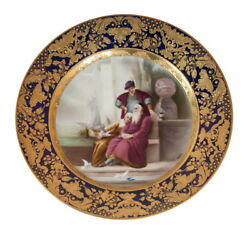 Decor Art. Austria. Wagner Porcelain Decorative plate with a scene. By the Sea.