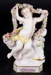 Decor Art Germany Meissen Figurine A Cupid with a garland of flowers