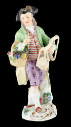 Decor Art. Germany. Meissen Figurine. Grapes Seller With Scales.