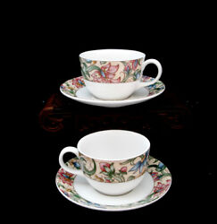 Jacobean By Royal Doulton Cup And Saucer 2 1/2  Set / 2