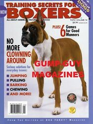 TRAINING SECRETS FOR BOXERS of Dog Fancy Magazine JUMPING Pulling Bark CHEWING