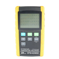 1pc New Btm-4208sd Temperature Recorder 12 Channel Thermometer