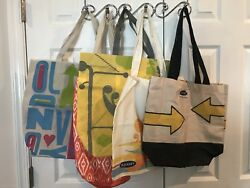 Old Navy Lot of 5 Tote Bags Shopper Travel Shopping Beach