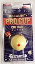 Super Aramith Pro Cup Measle Cue Ball 6 Red Spots Tv Ball - Regulation Size