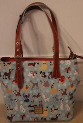 NEW Disney Dogs Dooney & Bourke Tote Emily Purse Bag Pongo Lady Tramp Sold Out!!
