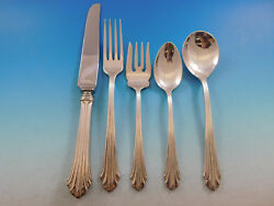 Homewood By Stieff Sterling Silver Flatware Set For 12 Service 60 Pieces