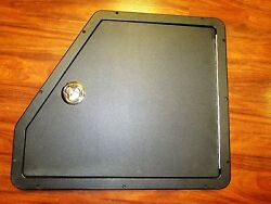 Black Plastic Hatch Door With Latch Marine Boat Southco