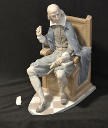 Lladro Shakespeare 1338 Figurine Almost Mint / No Box - Signed And Very Rare