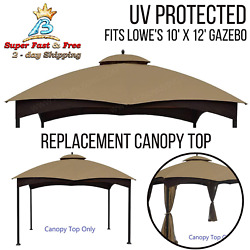 Canopy Top Replacement 10x12 Patio Gazebo Pavilion Sun Shade Cover For Lowe New