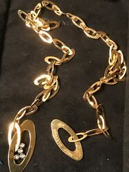 Roberto Coin 18k Yellow Gold And Diamond Chic And Shine Lariat Necklace