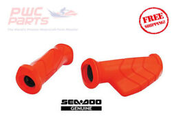 Seadoo Oem Red Handle Grip Set Palm Rest Left And Right 295100708 Ergonomic 2004+
