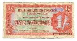 Great Britain British Armed Forces Special Voucher 1 Shilling 1948 Vg/f M18a