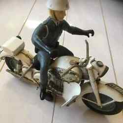 Japanese Police Tinplate Bikes Toy 60s Vintage Rare From Japan Free Shipping