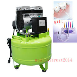 40l Dental Medical Noiseless Silent Oil Freeoilless Air Compressor For 2 Units
