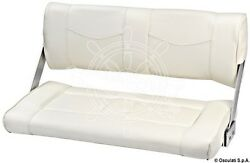 Osculati Reverso Double Seat With Rotating Backrest Coated In White Vinyl