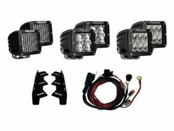 Rigid 41610 Black D-series Triple Fog Light Kit For Ford F-150 Svt Raptor