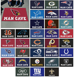 Nfl - Man Cave Ulti Mat Rug Football Team Logo 5and039 X 8and039