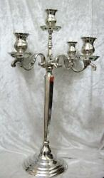 Candelabra Silver Plated Superb 5 Arm Superior Quality Large 23 Heavy Weight