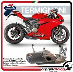 Termignoni 2 Exhausts In Carbon Racing For Ducati Panigale 1299 2012