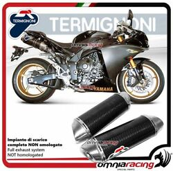 Termignoni Oval Complete Exhaust In Carbon Racing For Yamaha R1 20092011