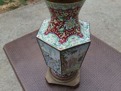 ANTIQUE CHINESE IMPERIAL QING DYNASTY FAMILLE ROSE MONUMENTAL RARE BUDDHA VASE