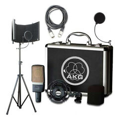 AKG C214 Rec. Condenser Mic w SF-101KIT Isolation Shield Cable