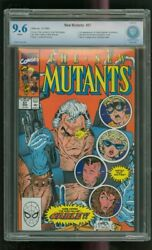 Cbcs 9.6 New Mutants 87 Marvel 3/1990 1st Cable Stryfe Mutant Liberation Front