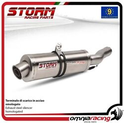 Storm OVAL Exhaust steel approved for BMW R1200GS 20082009