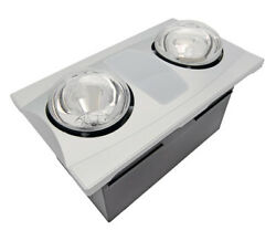 Infrared Bathroom Heater Light Rust-Proofed Steel Fan Housing Mounting Brackets