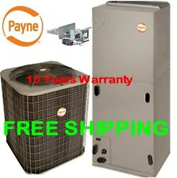 3.5 Ton R-410A 14SEER Heat Pump System Condensing Unit  Air Handler with Coil
