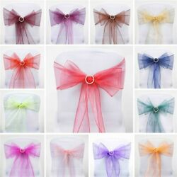 Organza Chair Sashes Bows Ties Wedding Reception Decorations Dinner Wholesale