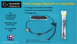 Outrigger Line Kit - Center Rigger Pre-rigged 40 Ft W/ Hal-lock Pulley And Clip