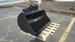 New 48 Takeuchi Tb180 Excavator Ditch Cleaning Bucket With Bolt On Edge