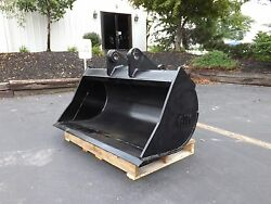 New 48 Ditch Cleaning Bucket For A John Deere 410d W/ Pins