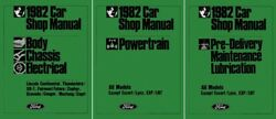 1982 Ford Mustang, Thunderbird, Cougar, Continental Shop Service Repair Manual