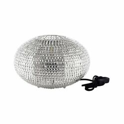 Pemberly Row 8 Hand-crafted Globe Sparkle Table Lamp In Nickel