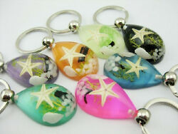 12 pcs sexy colorful star chic jewelry cool popular keychain key ring