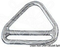Osculati Pack Of 5 Triangle Rings With Bars 5x45 Mm