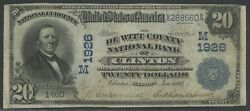 Fr646 20 1902 Date Back Clinton Ill. Vf Unique For This Bank Wlm5932