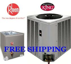 5 Ton R-410A 14SEER WeatherKing by Rheem AC Condensing Unit & Evaporator Coil