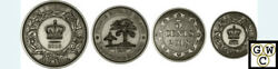 2018 Fine Silver 4coins–before Conf.colonial Currency Of Atlantic Province18517