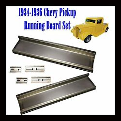 1934 1935 1936 Chevy Pickup Truck 1/2 Ton And Panel Delivery Running Boards Pair