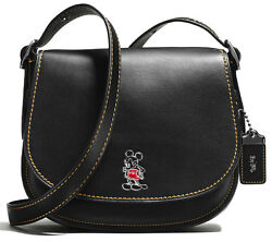 Disney x Coach Mickey Mouse Saddle Bag 23 Extremely Rare 1941 Product # 38421