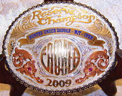 Skyline Vaquero Sterling Silver Aqha Reserve Champion Hunter Hus Trophy Buckle