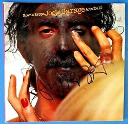 Frank Zappa - Signed Album Cover - Joes Garage Acts 2 And 3 - Rare