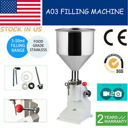 5-50ml Liquid/paste Manual Filling Machine For Lotion Cosmetic 0.17-1.7oz Filler