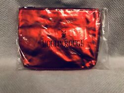 MOULIN ROUGE Cosmetic Travel Bag Pouch Case Red Glossy Patent Leather Vinyl NEW!