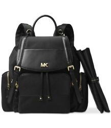 Michael Kors Beacon Mott Black Flap Diaperbag Backpack